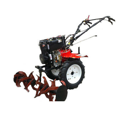 "Two wheel Tractor Cultivator Rotavator tiller German diesel 12HP 12"" wheels set"