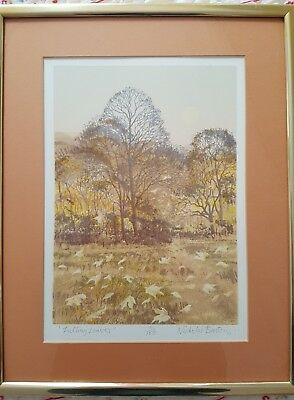 Nicholas Bristow Falling Leaves Framed Art Signed