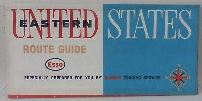1963 Eastern United States Route Guide Esso The Humble Oil & Refining Company