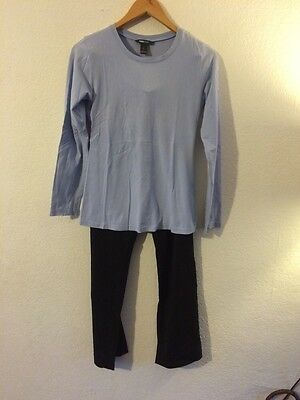 H&M Maternity Top & Trousers Size S 8/10 Lilac & Black <R4559