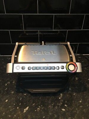 Tefal GC 702 D Optigrill Stainless Steel Used