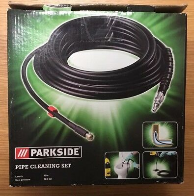 Parkside Pipe Cleaning Set  - 15 Metres - 160 bar.