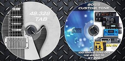 6.758 Patches BOSS SY-300,ME-25,GT-Pro,100,100v,GT-001,GP-10 & 48.000 Tablatures