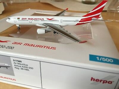 Herpa Wings Air Mauritius Airbus A330-200 1:500 OVP