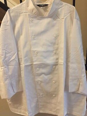 Unisex 1st Quality White 3/4 sleeve Chef Coat Sizes : 2XL-4XL Price 13.00
