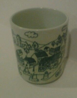 Limited Edition Nymolle Art Faience Hoyrup Small Glass Danish Village