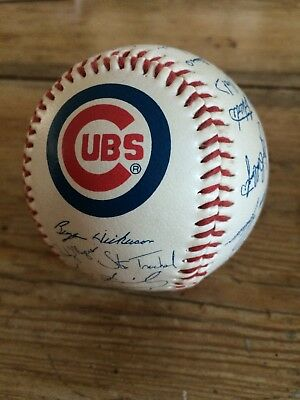 Chicago Cubs Signed Baseball