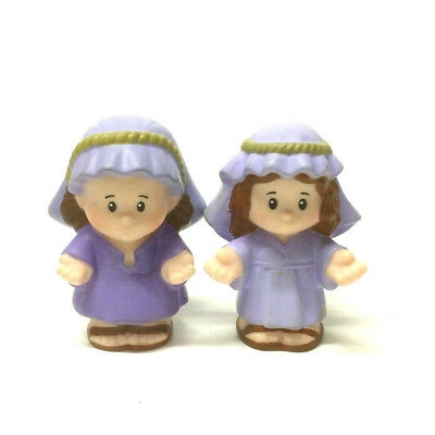 Lot 2pcs Fisher-Price Little People Mother Mary & Girl Figure Kid Cute toys doll