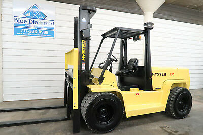 Hyster H155XL, 15,500# DIESEL Pneumatic Tire Forklift, Sideshift, GDP155 Yale