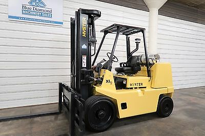 "Hyster S155XL2, 15,500# LP Gas, Cushion Tire Forklift, Sideshift, 106/134"" mast"