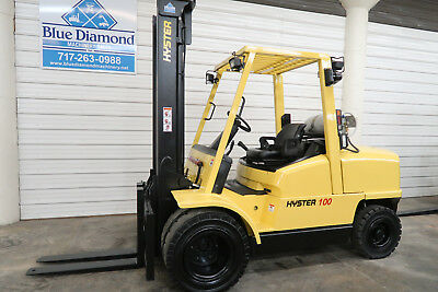 Hyster H100XM, 10,000# Pneumatic Tire Forklift, LP Gas, Dual Wheels, Low Hours!