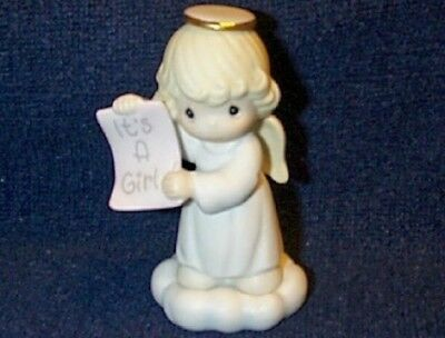Precious Moments Growing In Grace It's A Girl Angel Figurine CUTE