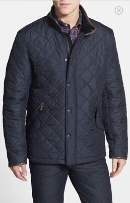 NWT BARBOUR POWELL Quilted Jacket Men's Size XLarge Navy MSRP $299