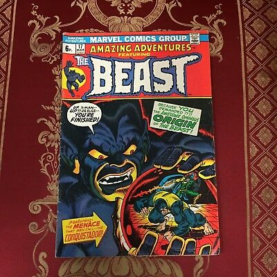 Amazing Adventures ft The Beast #17 March 1973 Bagged Marvel Comic