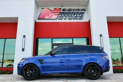 2017 Land Rover Range Rover Sport  2017 RANGE ROVER SPORT SVR - ONLY 5,600 MILES - BEST COLOR -LOADED WITH OPTIONS