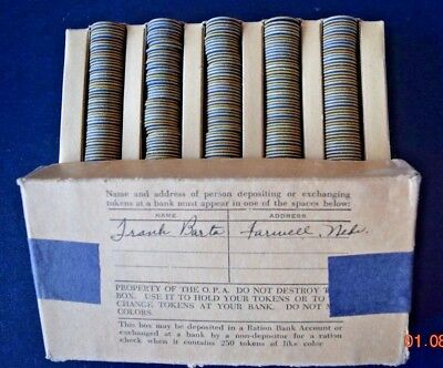 Symphony in Stamps: OPA BLUE DOT RATION TOKENS - in Original Box