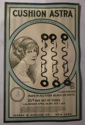Antique Old Stock Closed Wire Ends Cushion Astra Joseph W. Schloss Co. 1900s #85