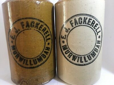 Antique Stoneware Ginger Beers x 2  NSW