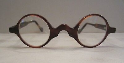 Vintage Faux Tortoise Shell Celluloid Round Eyeglass Spectacles - Childs?