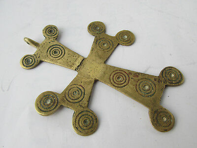 Rare Ancient Byzantine  Bronze  Cross  7-10th Century