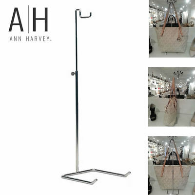 Single Hook Adjustable Chrome Handbag and Purse Display Stand