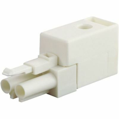 Wieland 93.742.0558.0 2 Pin Male Compact Connector with Strain Relief White