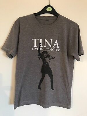 T-Shirt Music Memorabilia Pop Rock Tour Live In Concert TINA TURNER Size Small