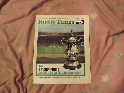 Radio Times - April 26 - May 2, 1969 Fa Cup Final -  Leicester V Manchester City