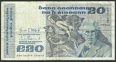 Ireland Pick73 - 20 Pounds 1983 in used condition (rb)