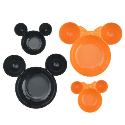 Disney Limited Edition Japanese Halloween Mickey Mouse Minnie 4 Piece Bowl Set