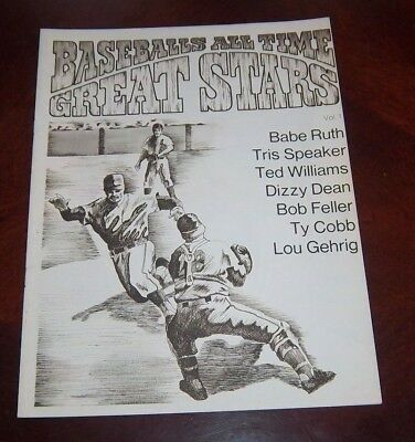 Baseball All Time Great Stars 1971 Babe Ruth ,Ted Williams ,Ty Cobb ,Dizzy Dean