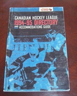 Canadian Hockey  League 1994-95 directory and Accommodations Guide