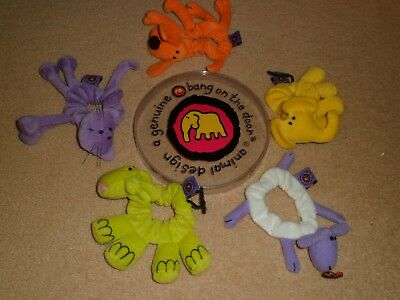 Bang on the Door boxed 5 animal scrunchies hair bobbles