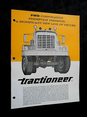 1960's FWD Tractioneer Truck Brochure - 8 Pages