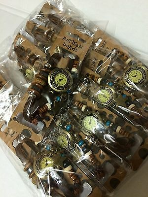 Job Lot Wholesale 20 Artisan beads boho Charmed Leather Watches / RRP £18 Each