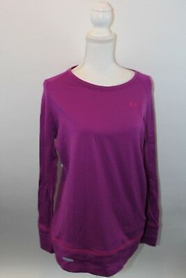 Womens Purple Under Armour Base Layer 2.0 Size XL Long Stretch Long Sleeve Top