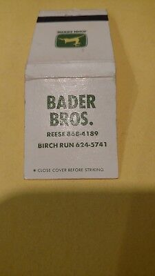Bader Brothers John Deere equipment matchbook tractor Farm