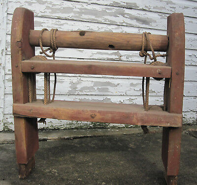 Antique Farm Equipment Wooden Grain Mill Seed Separator Cleaner Hand