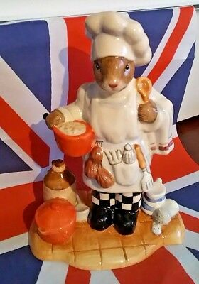 Michael Doulton Signed Db379 Chef Bunnykins Royal Doulton Professions Collection