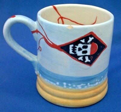 Heather Richards Mug Made Exclusively For Holkham Pottery. Jolly Roger Flag