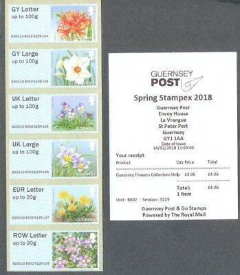 Guernsey-Post & Go Flowers mnh issue date Feb 14th,2018