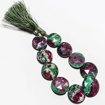 "Ruby Zoisite Natural Gemstone Beads Strand Length 8"" 301 Ct."
