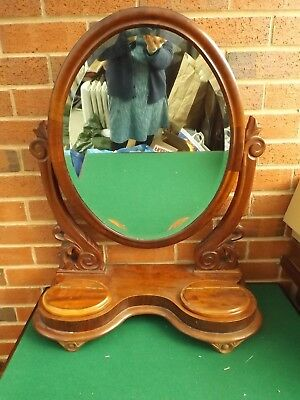 Large Victorian Mahogany  oval, dressing table or swing/toilet mirror for repair