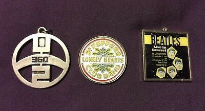 3 The Beatles & U2 Official Key Rings in good used conditions