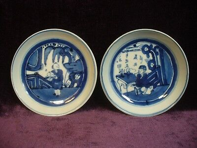 Antique Chinese Dehua Ming Wanli blue white porcelain plate marked 德化万利款明青花盘