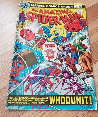 "The Amazing Spider-Man #155 ""whodunit"" Marvel Comic Spiderman"