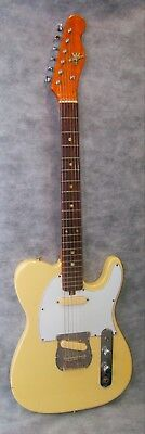 Vintage Kingston Telecaster Copy Electric Guitar Japan Teisco Natural Relic