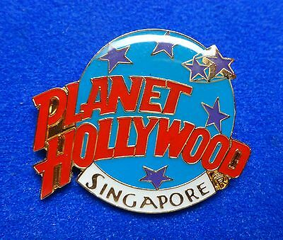 New PH Old Singapore Planet Hollywood Logo w Stars Lapel Pin - 7 mm Backstamp z3