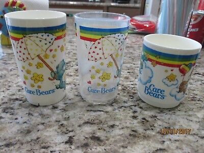 Vintage Care Bear Glasses and  Cup