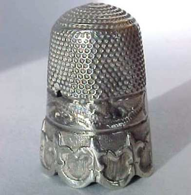 Antique Solid Silver Thimble